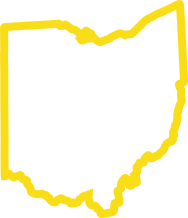 picture of the state of Ohio, outlined in yellow, with white text that reads 'Ohio's Health Insurance Provider Since 1934'